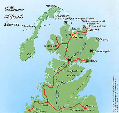 kart mehamn Gamvik kommune kart mehamn
