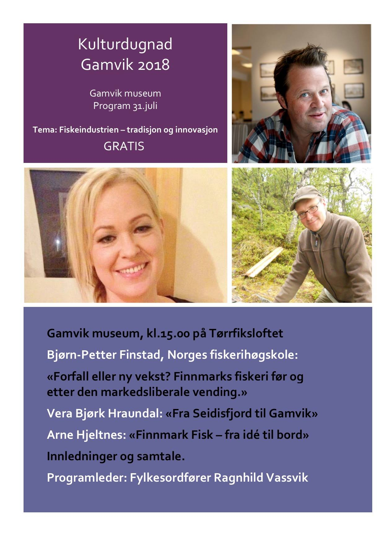 Program Kulturdugnad Gamvik 2018 4
