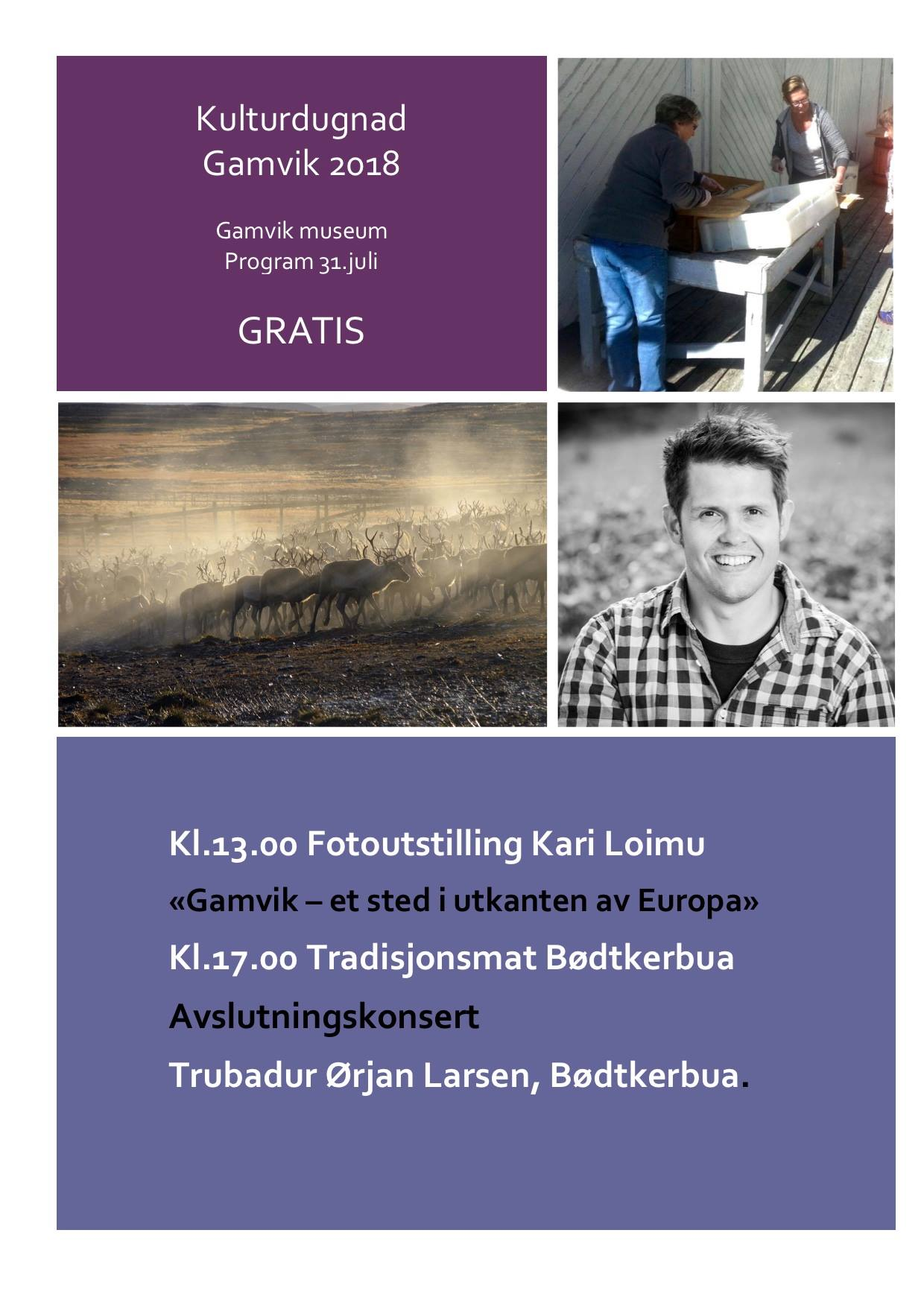 Program Kulturdugnad Gamvik 2018 7